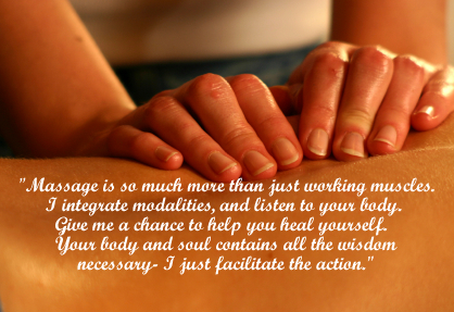 Back Massage With Joan's Quote